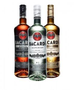 Bacardi Rum Bottles