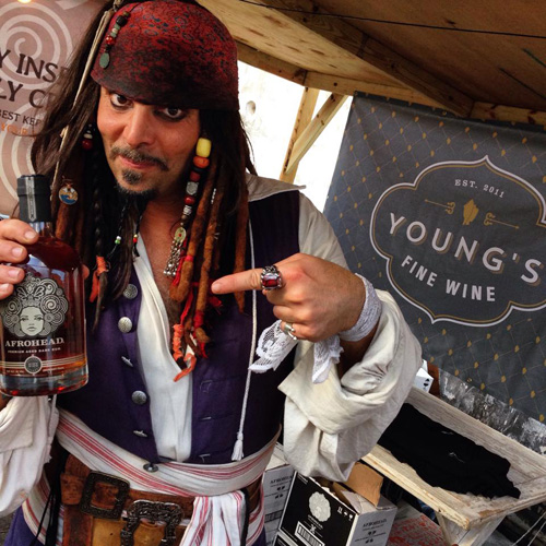 'Captain Jack Sparrow' was a hit with attendees of Rum Bahamas Festival.