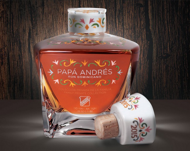 Papá Andrés is a new $1,500 per bottle rum from Brugal. (Source: Brugal via Bloomberg)