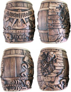 Chaffin's most recent release is the Amontillado Barrel Mug Collection based on Edgar Allan Poe's The Cask of Amontillado.
