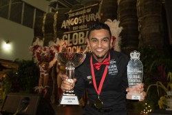 Trinidadian bartender Neal Ramdhan won the 2016 Angostura Global Cocktail Challenge (Photo courtesy of Angostura)