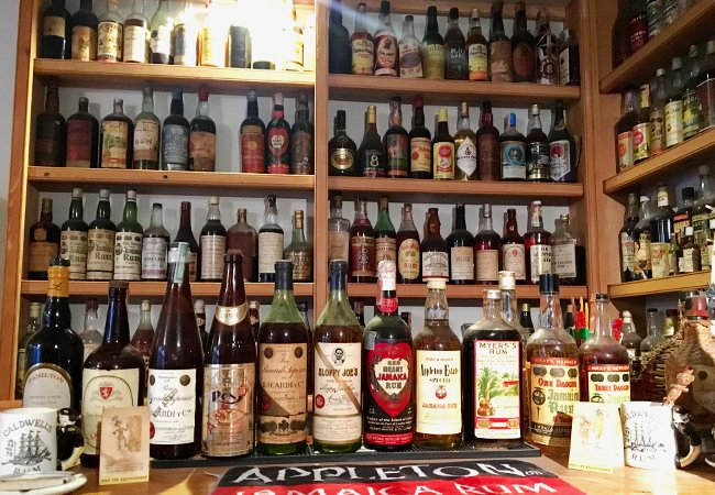 """Remsberg keeps many of the bottles in his """"permanent collection"""" unopened, but he's been able to track down duplicates for tasting and sharing. Photo courtesy of TalesOfTheCocktail.com"""