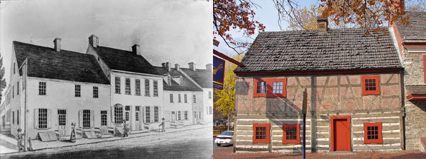 Golden Plough Tavern circa-1830s and 2010)