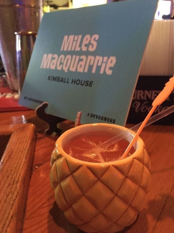 Miles Macquarrie of Atlanta's Kimball House was mixing Saturn cocktails