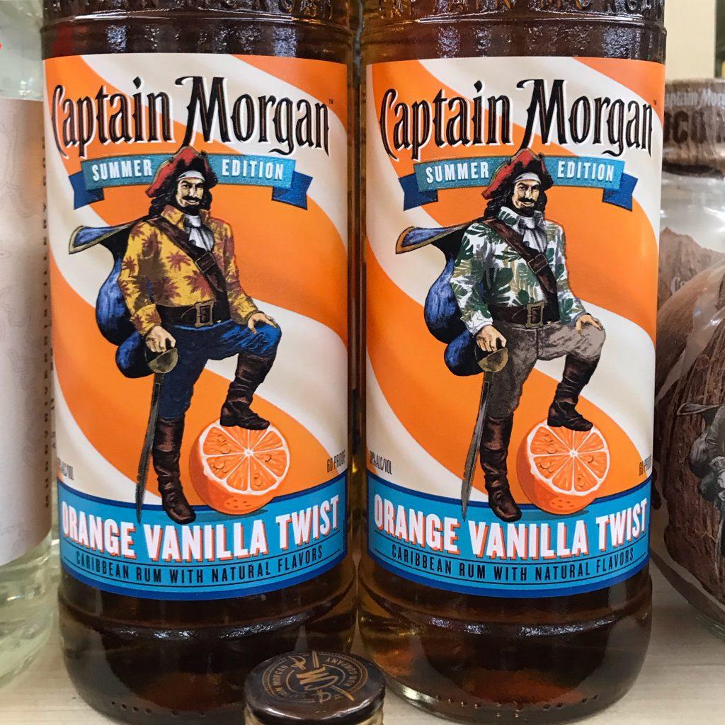 Captain Morgan's Special Summer Edition Flavored Orange Vanilla Twist liqueur